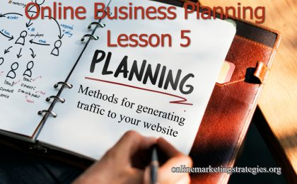 Online Business Planning Lesson 5